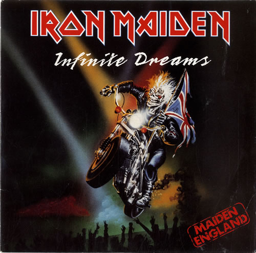 "Iron Maiden Infinite Dreams - P/S - Paper label 7"" vinyl single (7 inch record) UK IRO07IN603598"
