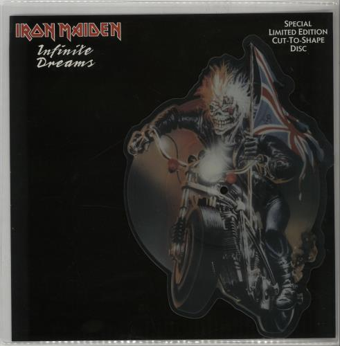 Iron Maiden Infinite Dreams shaped picture disc (picture disc vinyl record) UK IROSHIN00703