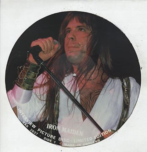 Iron Maiden Interview Picture Disc picture disc LP (vinyl picture disc album) UK IROPDIN26427