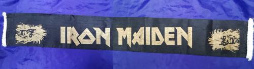 Iron Maiden Iron Maiden - black & gold Scarf memorabilia UK IROMMIR713706