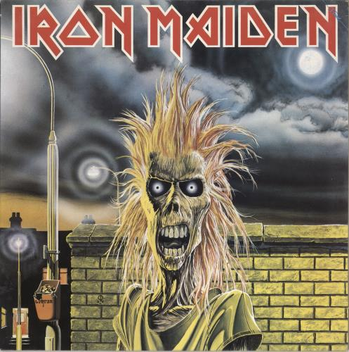 Iron Maiden Iron Maiden - EX vinyl LP album (LP record) UK IROLPIR185385