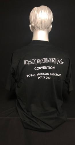 Iron Maiden Iron Maiden FC Convention - Total McBrain Damage Tour 2001 t-shirt UK IROTSIR718105