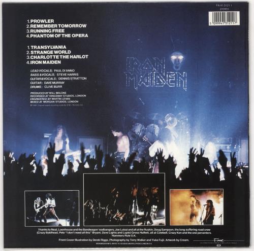 Iron Maiden Iron Maiden vinyl LP album (LP record) UK IROLPIR720577