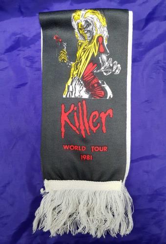 Iron Maiden Killer World Tour 1981 - Scarf memorabilia UK IROMMKI713709