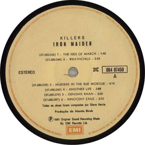 Iron Maiden Killers vinyl LP album (LP record) Brazilian IROLPKI235111