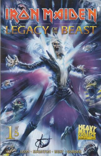 Iron Maiden Legacy Of The Beast #1 - Cover A - Signed memorabilia UK IROMMLE713603