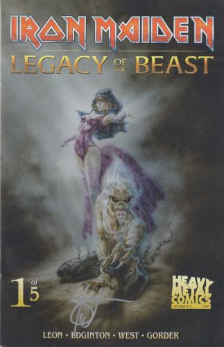 Iron Maiden Legacy Of The Beast #1 - Cover B - Signed memorabilia UK IROMMLE713605