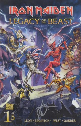 Iron Maiden Legacy Of The Beast #1 - Cover C - Signed memorabilia UK IROMMLE713611