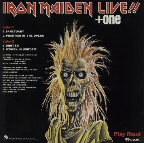 "Iron Maiden Live + One - 'Play Roud' P/S + Insert 12"" vinyl single (12 inch record / Maxi-single) Japanese IRO12LI761507"