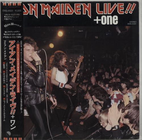 "Iron Maiden Live + One - With Obi & Insert 12"" vinyl single (12 inch record / Maxi-single) Japanese IRO12LI140100"