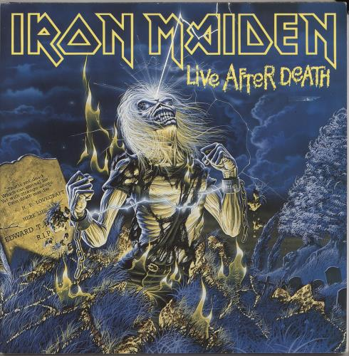 Iron Maiden Live After Death + Booklet - EX 2-LP vinyl record set (Double Album) UK IRO2LLI401446