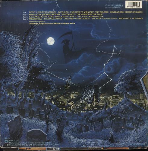 Iron Maiden Live After Death - EX 2-LP vinyl record set (Double Album) Dutch IRO2LLI725086