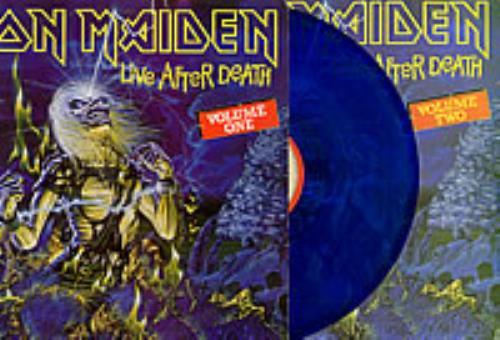 Iron Maiden Live After Death - Volumes 1 & 2 - Blue vinyl 2-LP vinyl record set (Double Album) Colombian IRO2LLI238488