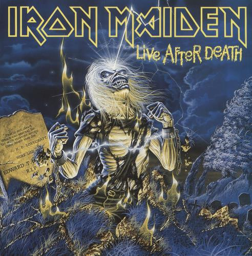 Iron Maiden Live After Death -Matt Sleeve + Booklet 2-LP vinyl record set (Double Album) UK IRO2LLI742812