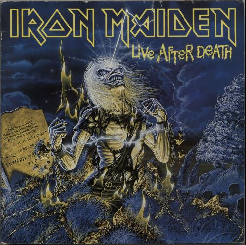 Iron Maiden Live After Death 2-LP vinyl record set (Double Album) UK IRO2LLI160033