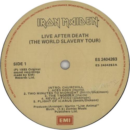 Iron Maiden Live After Death 2-LP vinyl record set (Double Album) Irish IRO2LLI601659