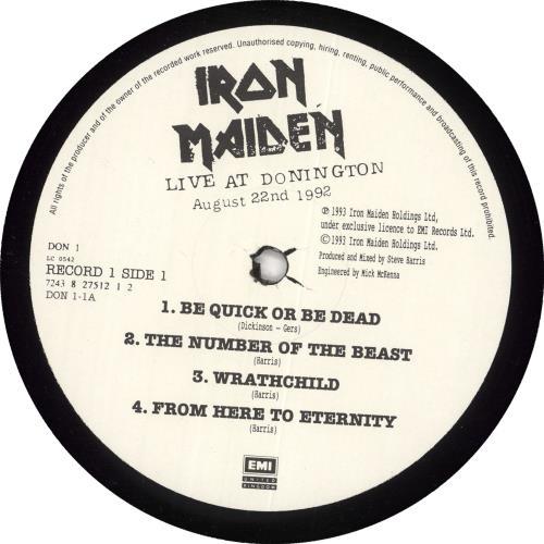 Iron Maiden Live At Donington 3-LP vinyl record set (Triple Album) UK IRO3LLI23754