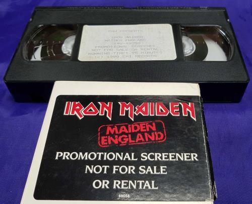 Iron Maiden Maiden England video (VHS or PAL or NTSC) UK IROVIMA713818