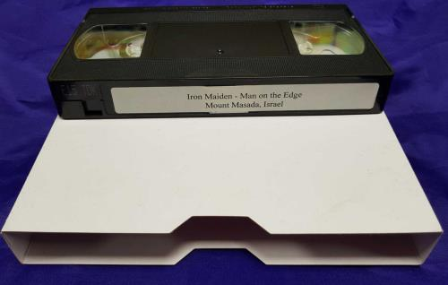 Iron Maiden Man On The Edge - Mount Masada, Israel video (VHS or PAL or NTSC) UK IROVIMA713816