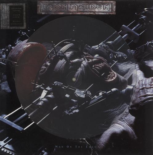 "Iron Maiden Man On The Edge 12"" vinyl picture disc 12inch picture disc record UK IRO2PMA729582"