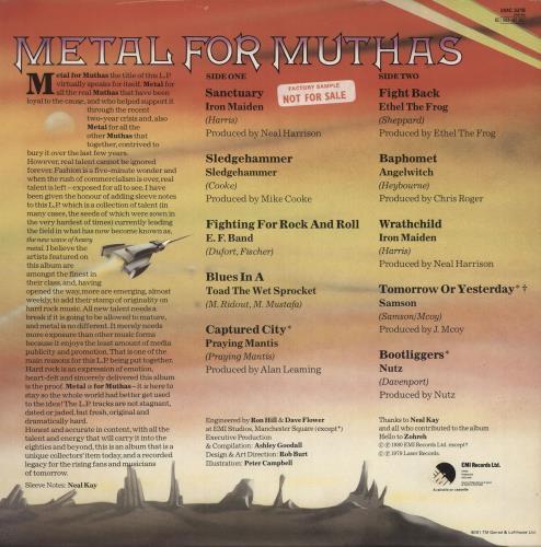 Iron Maiden Metal For Muthas - Factory Sample vinyl LP album (LP record) UK IROLPME739257