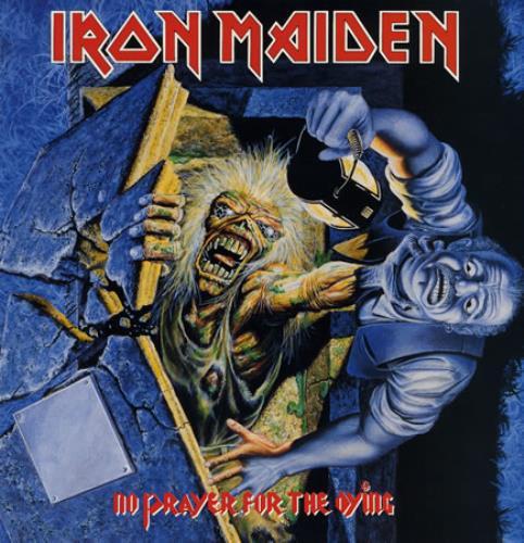Iron Maiden No Prayer For The Dying - 1st vinyl LP album (LP record) UK IROLPNO595904