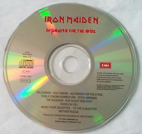 Iron Maiden No Prayer For The Dying CD album (CDLP) UK IROCDNO595819