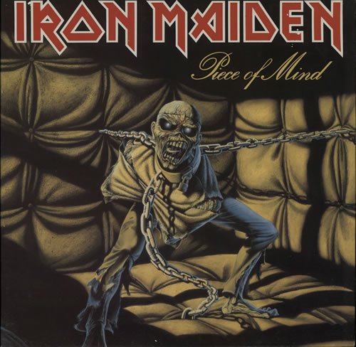 Iron Maiden Piece Of Mind + Merchandise Insert - EX vinyl LP album (LP record) UK IROLPPI569728