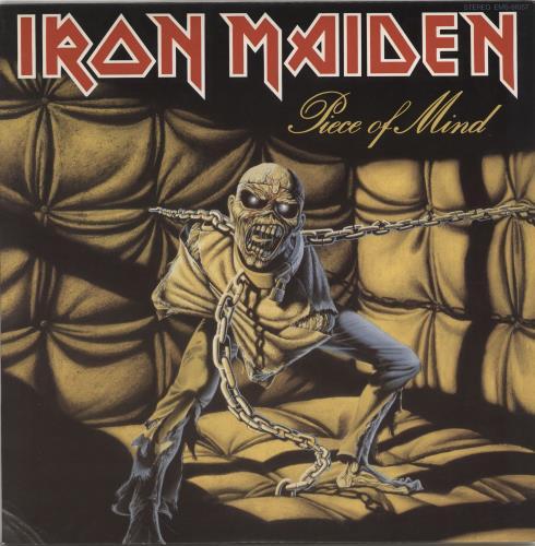 Iron Maiden Piece Of Mind + Poster vinyl LP album (LP record) Japanese IROLPPI766139