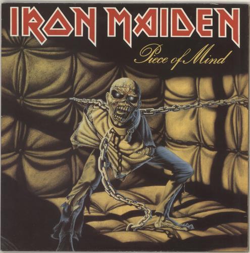 Iron Maiden Piece Of Mind - 1st - EX vinyl LP album (LP record) UK IROLPPI747922