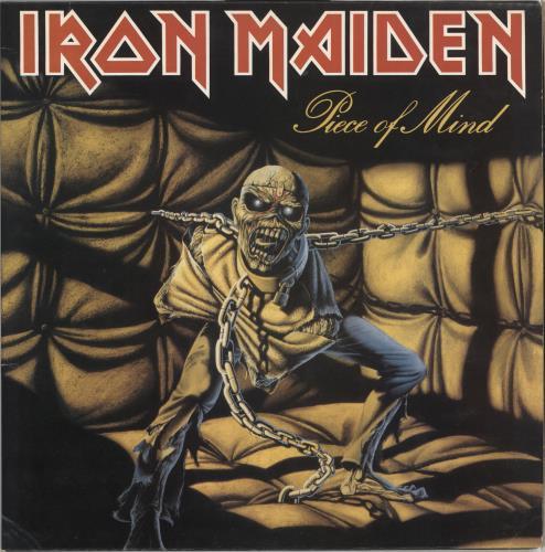 Iron Maiden Piece Of Mind - 2nd - EX vinyl LP album (LP record) UK IROLPPI556341
