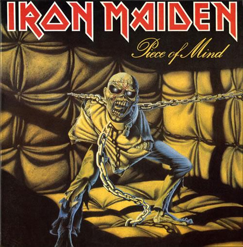 Iron Maiden Piece Of Mind - Barcoded vinyl LP album (LP record) UK IROLPPI569153