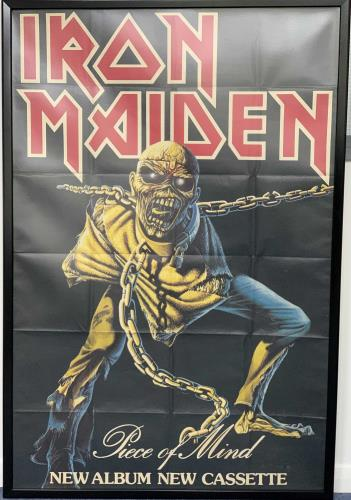 Iron Maiden Piece Of Mind - Folded poster UK IROPOPI744922