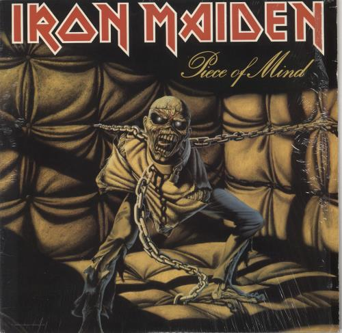 Iron Maiden Piece Of Mind - Shrink + Merchandise Insert vinyl LP album (LP record) US IROLPPI725077