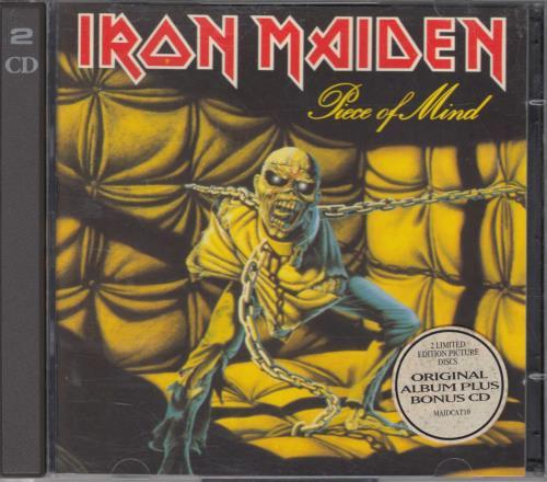 Iron Maiden Piece Of Mind 2 CD album set (Double CD) UK IRO2CPI208281