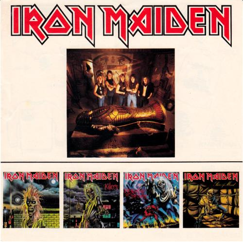 Iron Maiden Powerslave - 1st + Insert vinyl LP album (LP record) UK IROLPPO339848