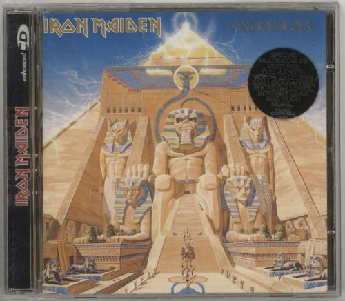 Iron Maiden Powerslave CD album (CDLP) UK IROCDPO713697