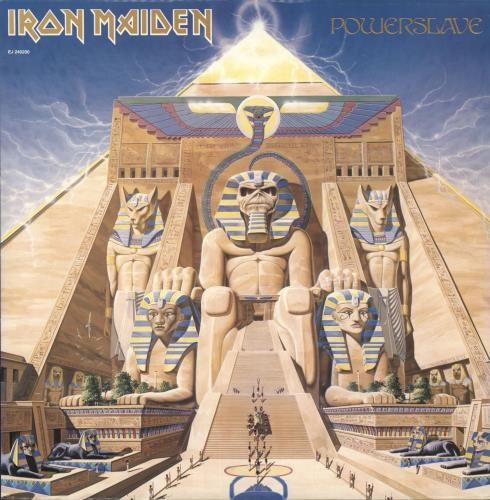 Iron Maiden Powerslave vinyl LP album (LP record) Israeli IROLPPO724343