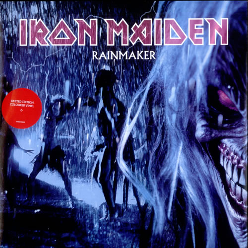 "Iron Maiden Rainmaker - Blue Vinyl 7"" vinyl single (7 inch record) UK IRO07RA262098"