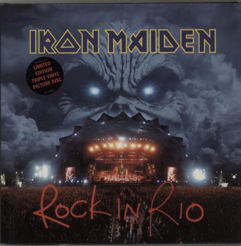 Iron Maiden Rock In Rio picture disc LP (vinyl picture disc album) UK IROPDRO209198
