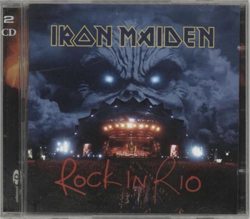 Iron Maiden Rock In Rio 2 CD album set (Double CD) UK IRO2CRO712058