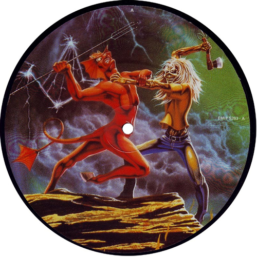 "Iron Maiden Run To The Hills 7"" vinyl picture disc 7 inch picture disc single UK IRO7PRU01460"