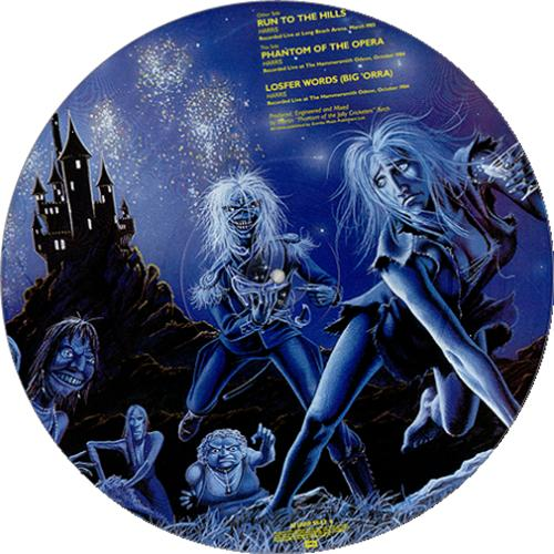 "Iron Maiden Run To The Hills 12"" vinyl picture disc 12inch picture disc record UK IRO2PRU00698"