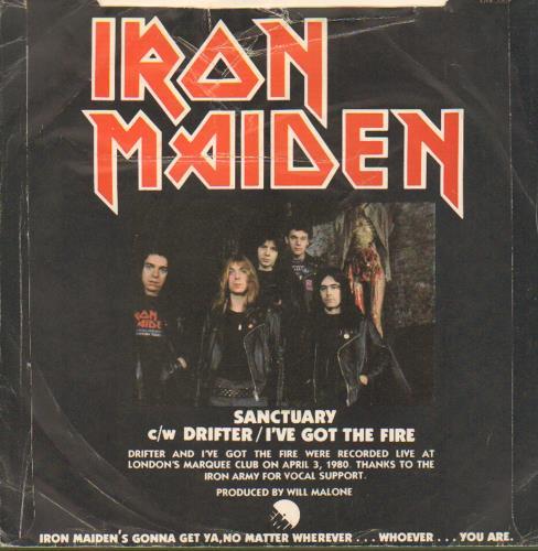 "Iron Maiden Sanctuary - Censored P/S - VG 7"" vinyl single (7 inch record) UK IRO07SA667058"