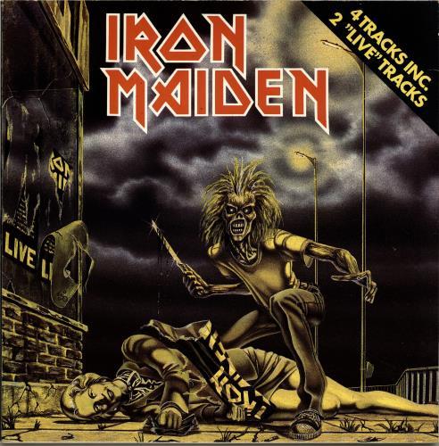 "Iron Maiden Sanctuary 12"" vinyl single (12 inch record / Maxi-single) Dutch IRO12SA07808"