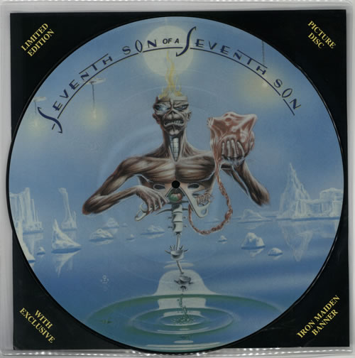 Iron Maiden Seventh Son Of A Seventh Son + Back Insert picture disc LP (vinyl picture disc album) UK IROPDSE586833