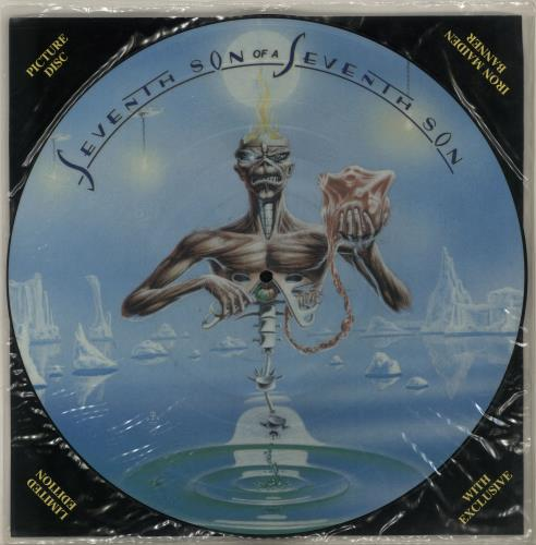 Iron Maiden Seventh Son Of A Seventh Son + insert & banner picture disc LP (vinyl picture disc album) UK IROPDSE00689