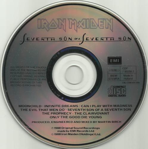 Iron Maiden Seventh Son Of A Seventh Son CD album (CDLP) Dutch IROCDSE742655