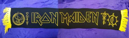 Iron Maiden Seventh Tour Of A Seventh Tour - Black & Yellow Scarf memorabilia UK IROMMSE713777