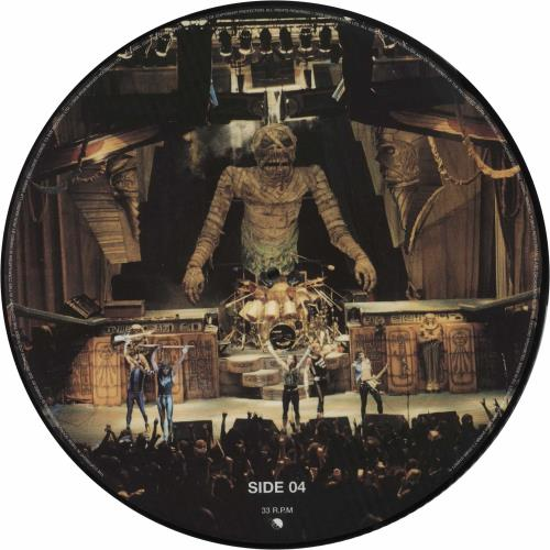 Iron Maiden Somewhere Back In Time + Poster picture disc LP (vinyl picture disc album) UK IROPDSO700338